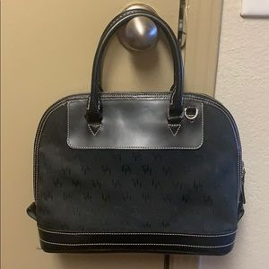 Black cloth/leather Dooney & Bourke dome purse